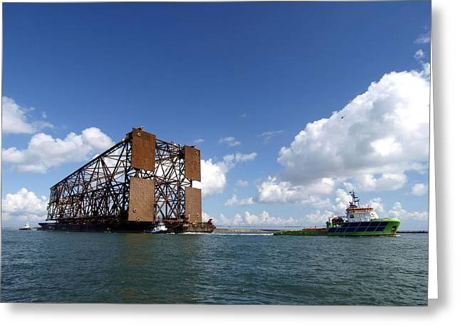 Oil Platform Greeting Cards - Oil Platform III Greeting Card by James Granberry