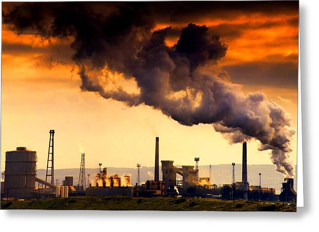 Environmental Concerns Greeting Cards - Oil Refinery Greeting Card by John Short