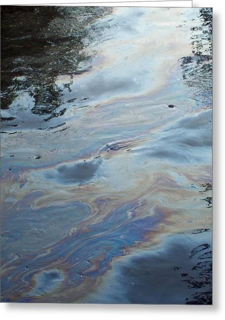 Oil Slick Greeting Cards - Oil Slick  Greeting Card by Michelle  BarlondSmith
