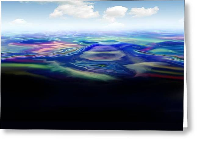 Oil Spill, Artwork Greeting Card by Victor Habbick Visions