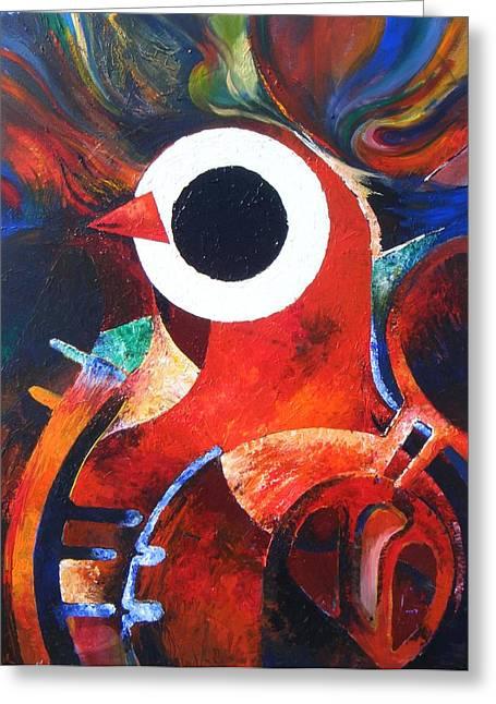 Harold A. Bascom Paintings Greeting Cards - Oil Spill Gothic Greeting Card by Harold Bascom