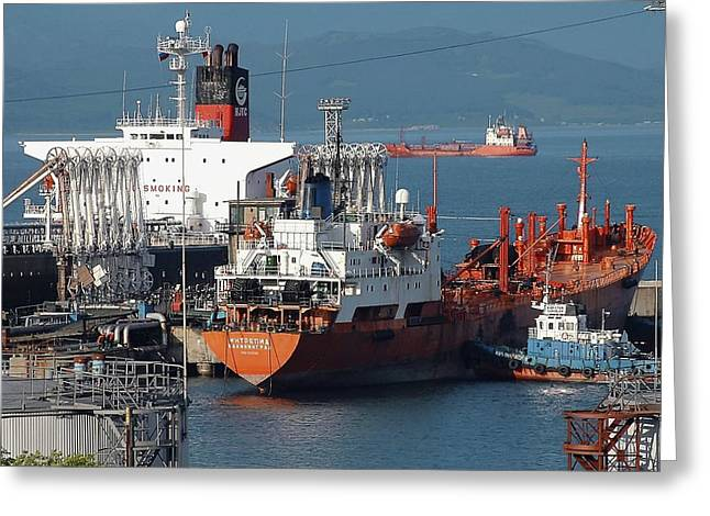 Fossil Fuel Greeting Cards - Oil Tanker Greeting Card by Ria Novosti