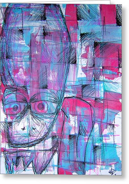 Character Portraits Greeting Cards - Ojo Greeting Card by Jera Sky