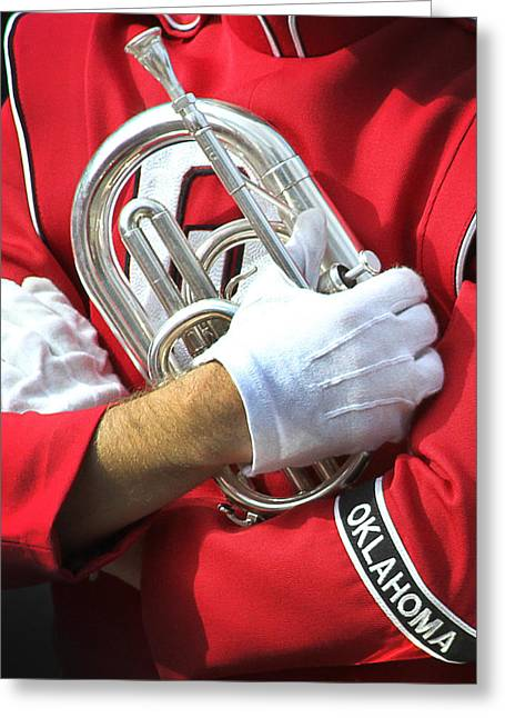 Marching Band Greeting Cards - Oklahoma Pride Greeting Card by Rebecca Lynn Roby