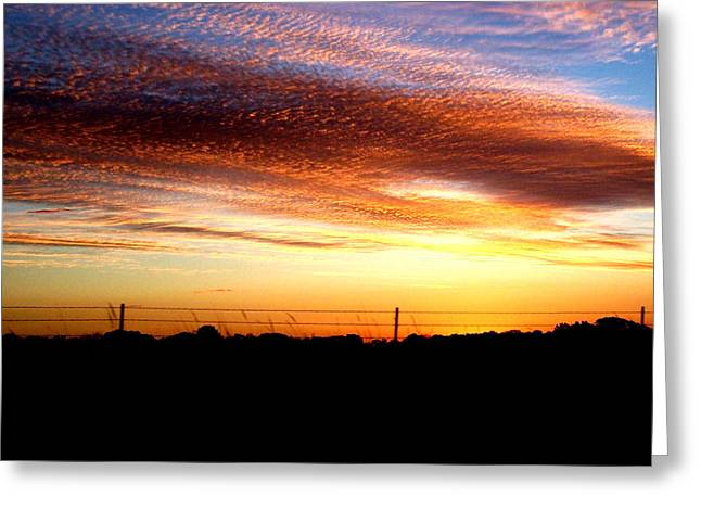 Abstract Expressionism Photographs Greeting Cards - Oklahoma Skies Greeting Card by Karen M Scovill