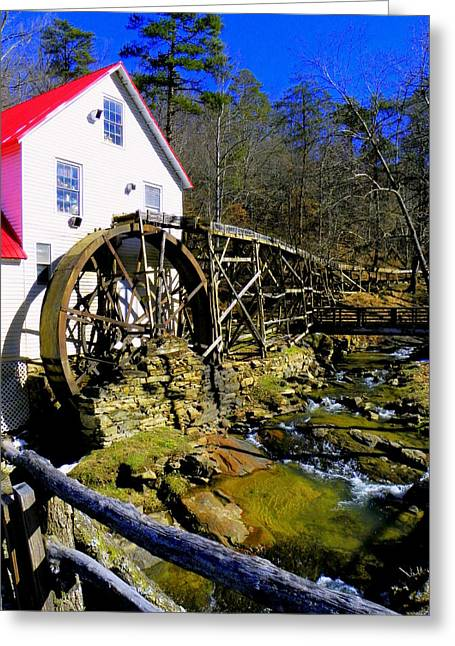 Grain Mill Greeting Cards - Old 1886 Mill Greeting Card by Karen Wiles