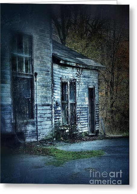 Run Down Greeting Cards - Old Abandoned Building Greeting Card by Jill Battaglia