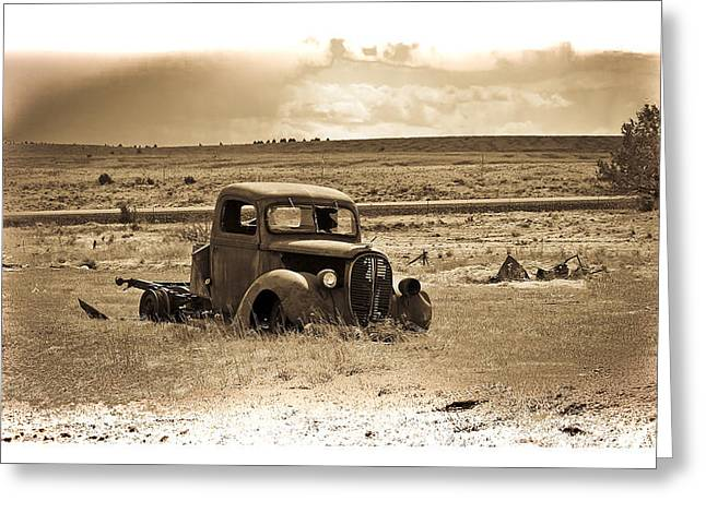 1949 Plymouth Greeting Cards - Old Abanoded Truck Fade Greeting Card by Steve McKinzie