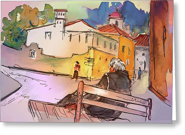 Travel Sketch Drawings Greeting Cards - Old and Lonely in Portugal 07 Greeting Card by Miki De Goodaboom