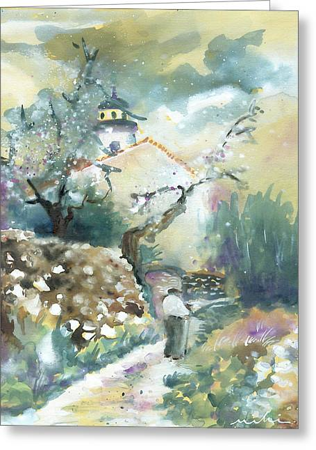 Costa Blanca Greeting Cards - Old and Lonely in Spain 05 Greeting Card by Miki De Goodaboom