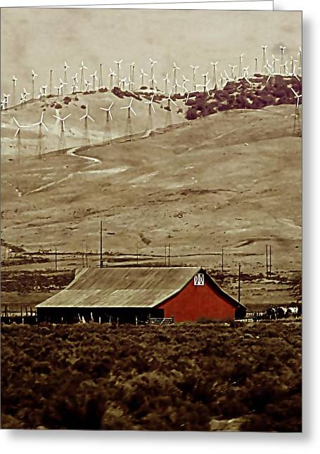 Barn Digital Greeting Cards - Old and New Greeting Card by Ellen Heaverlo