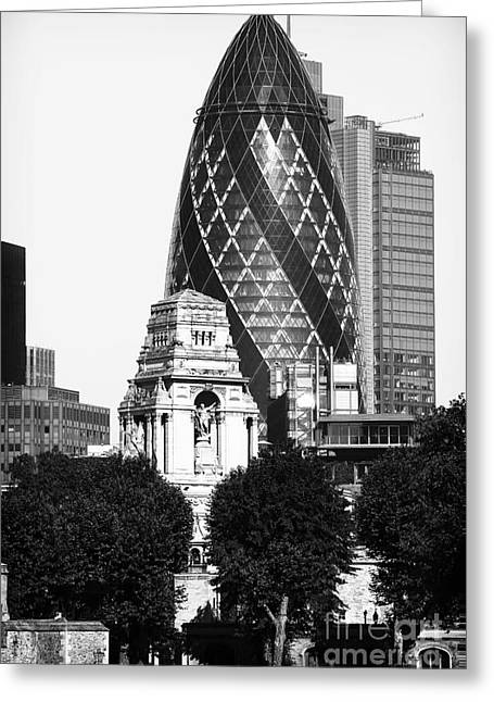 Old And New Architecture Greeting Cards - Old and New in London Greeting Card by John Rizzuto