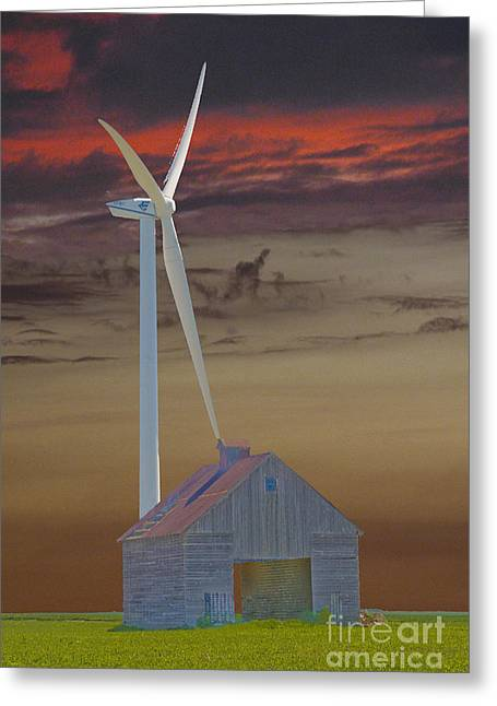 Cornfield Greeting Cards - Old and new Greeting Card by Jim Wright
