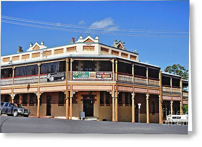 Old Aussie Pub Greeting Card by Kaye Menner