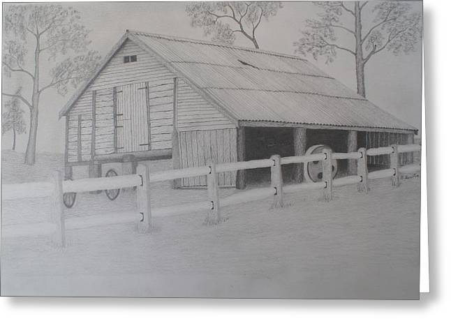 Old Austane Barn Greeting Card by Brian Leverton