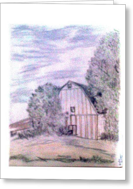 Old Barn Drawing Greeting Cards - Old Barn Greeting Card by De Beall
