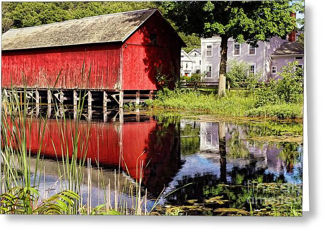 Historical Building Greeting Cards - Old Barn Greeting Card by HD Connelly