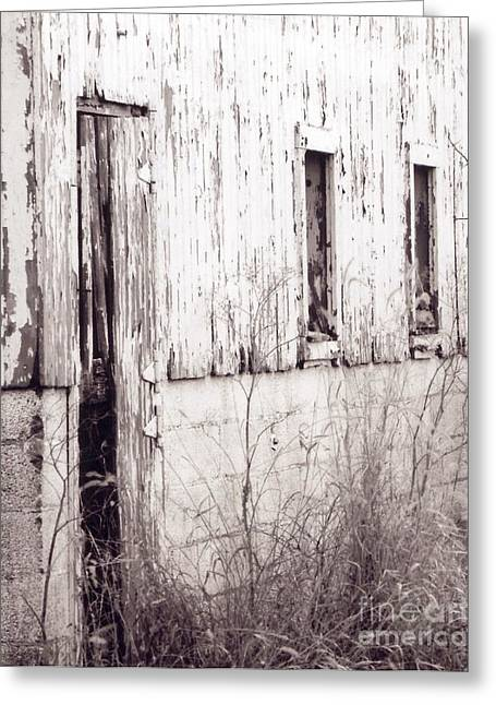 Barn Door Greeting Cards - Old Barn Greeting Card by Michelle Kelnhofer