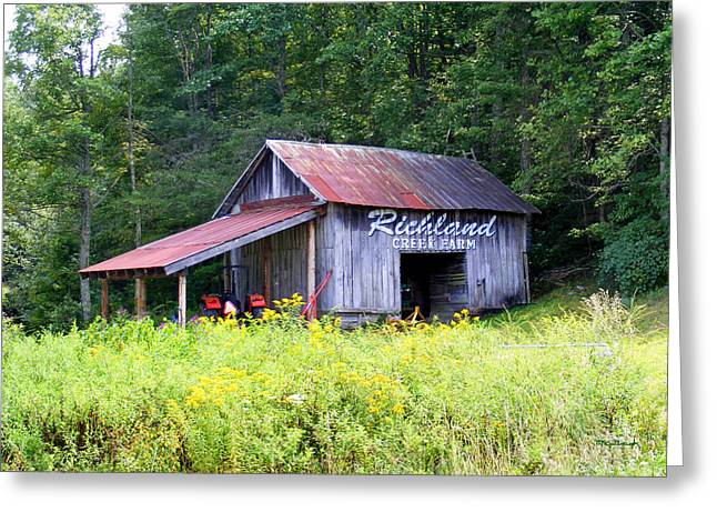 Richland Creek Greeting Cards - Old Barn near Silversteen Road Greeting Card by Duane McCullough