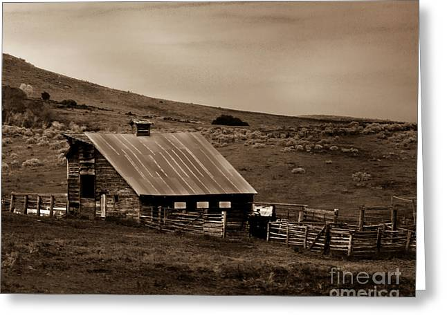 Emmett Valley Greeting Cards - Old Barn Greeting Card by Robert Bales