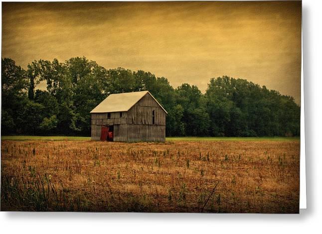 Indiana Farm Greeting Cards - Old Barn Greeting Card by Sandy Keeton