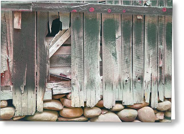 Old Barns Greeting Cards - Old barn wall Greeting Card by Judith Birtman