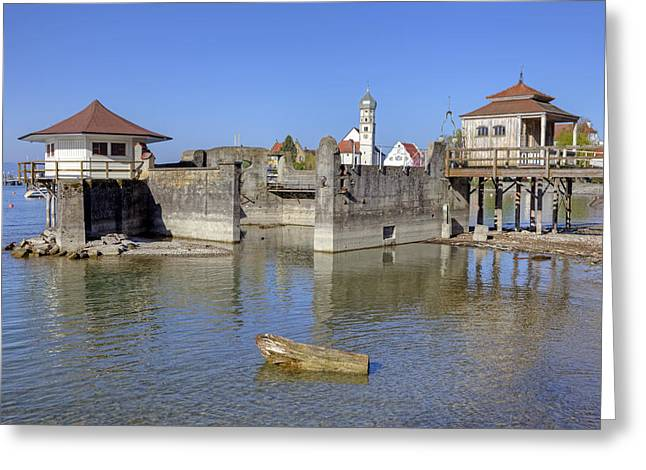 Lake Constance Greeting Cards - old bath houses in Bavaria Greeting Card by Joana Kruse