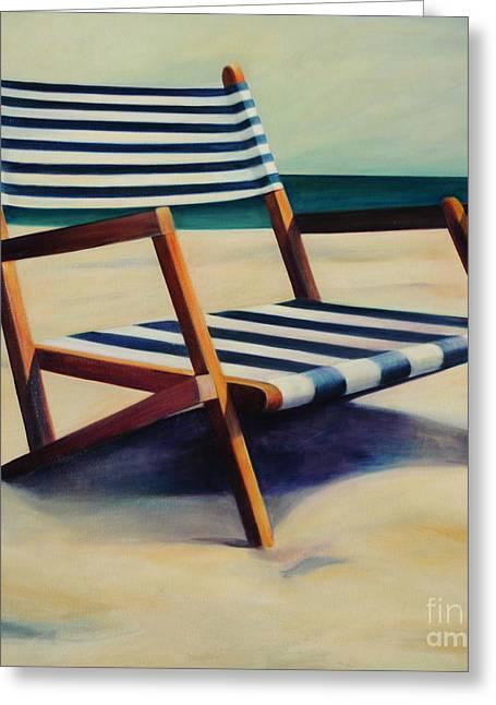 Old Beach Chair Greeting Card by Mary Naylor