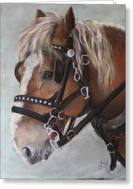 Work Pastels Greeting Cards - Old Ben Greeting Card by Mitzi Nelson