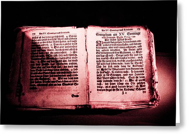 Bible Digital Art Greeting Cards - Old Bible Greeting Card by Dean Farrell