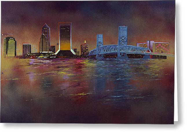 Jacksonville Greeting Cards - Old Blue Greeting Card by Mobarick Abdullah III