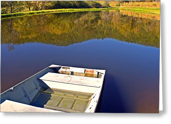 Susan Leggett Greeting Cards - Old Boat Greeting Card by Susan Leggett