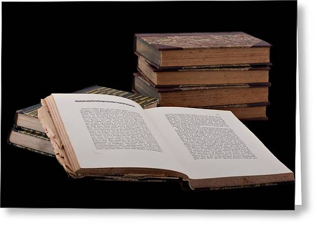 Learn Greeting Cards - Old Books Greeting Card by Gert Lavsen