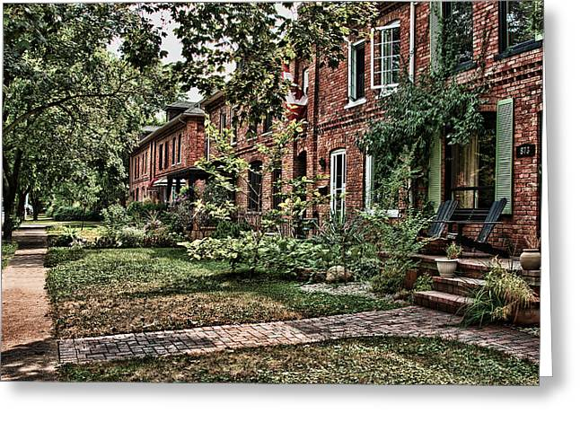 Dwell Greeting Cards - Old Brick Houses Greeting Card by Cosmin Nahaiciuc