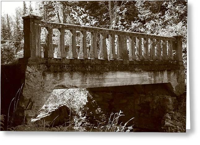 Old Bridge Greeting Card by Paula Brown