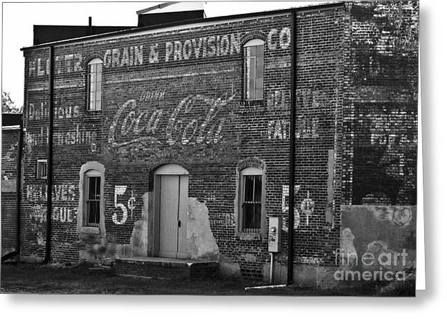 Brick Buildings Greeting Cards - Old Building in Salisbury NC Greeting Card by Wilma  Birdwell