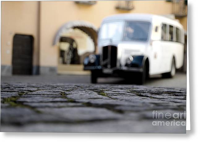 Antic Car Greeting Cards - Old buss Greeting Card by Mats Silvan