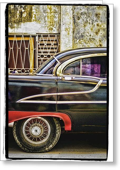 Abstract Digital Pyrography Greeting Cards - Old Car 2 Greeting Card by Mauro Celotti
