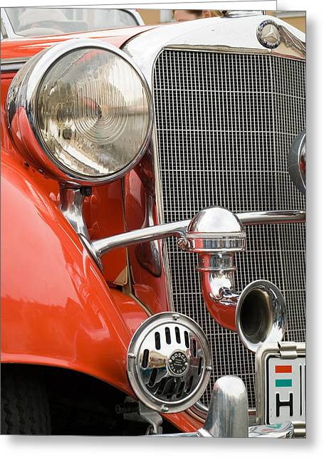 Old Car Detail Greeting Card by Odon Czintos