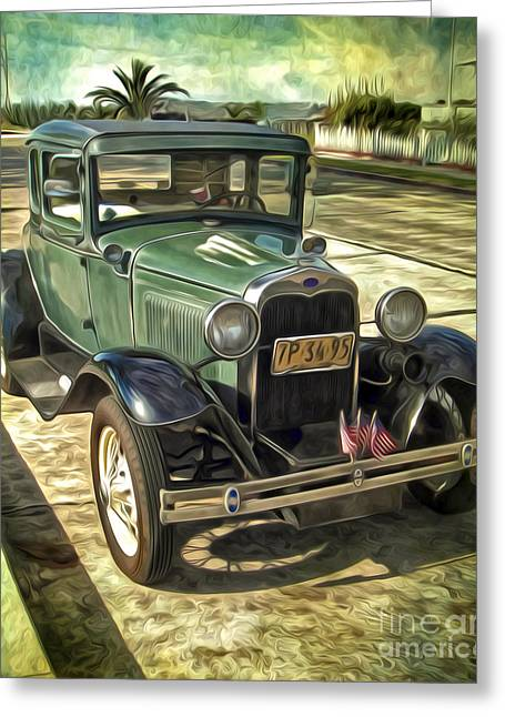Gregory Dyer Greeting Cards - Old Car Greeting Card by Gregory Dyer