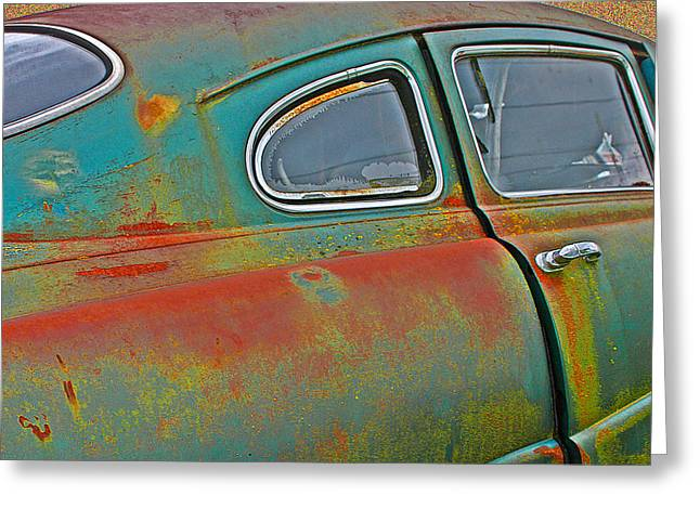 Jean Noren Greeting Cards - Old Car Greeting Card by Jean Noren