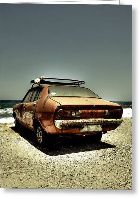 Metal Sheet Greeting Cards - Old Car Greeting Card by Joana Kruse