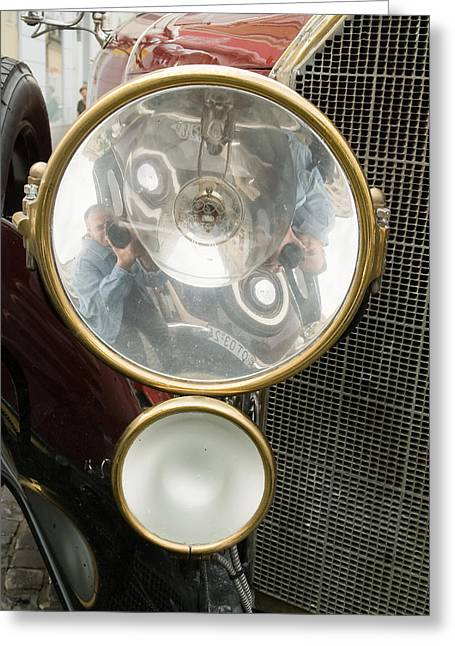 Valuable Objects Greeting Cards - Old car lamp Greeting Card by Odon Czintos