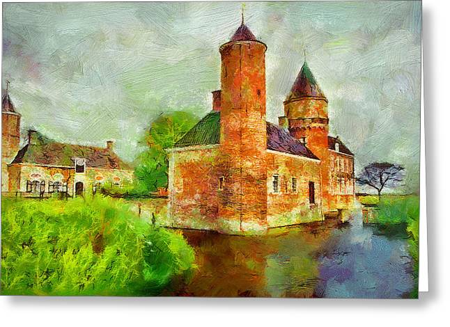Old Town Digital Greeting Cards - Old Castle Greeting Card by Yury Malkov