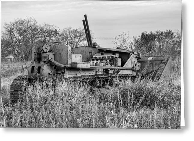 Tractor Prints Greeting Cards - Old Cat IV Greeting Card by Ricky Barnard