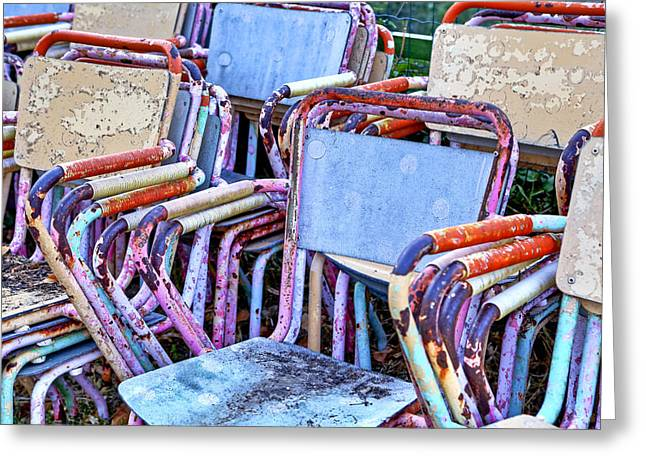 Chairs Greeting Cards - Old Chairs Greeting Card by Joana Kruse