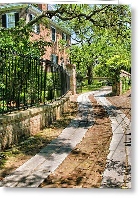Entryway Greeting Cards - Old Charleston Driveway Greeting Card by Steven Ainsworth