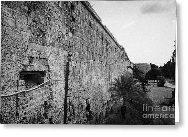 Ammochostos Greeting Cards - Old City Walls Famagusta Turkish Republic Of Northern Cyprus Trnc Greeting Card by Joe Fox
