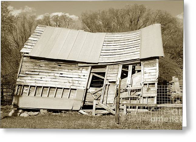 Heber Springs Greeting Cards - Old Collapsed Barn - Wasatch Mountains Greeting Card by Gary Whitton