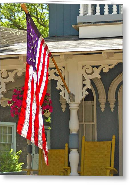Colonial Flag Greeting Cards - Old Colonial Greeting Card by Joann Vitali